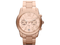 ichael Kors Men's Mercer Chronograph Rose Gold Dial Rose Gold Tone Stainless Ste