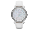 Fossil Emma Crystal Bezel Leather Ladies Watch ES3233