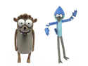 "Regular Show Cartoon Network 3"" Figure Set Of 2 Rigby & Mordecai"