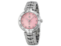 Tag Heuer Link Diamond Pink Guilloche Dial Steel Ladies Watch WAT1313.BA0956