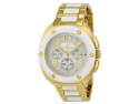 Michael Kors Tribeca Chronograph White Dial Gold-tone Ladies Watch MK5731