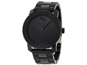 Movado Bold Large Black Polymer Mens Watch 3600047