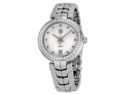 Tag Heuer Link Diamond Silver Dial Stainless Steel Ladies Watch WAT1316BA0956