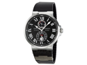 Ulysse Nardin Maxi Marine Chronometer Black Diial Mens Watch 263-67-3-42