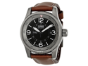 Oris Big Crown Timer Black Dial Brown Leather Mens Watch 735-7660-4264LS