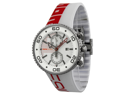 MOMO Design Jet GMT Red and White Dial Rubber Mens Watch MD2187-RB-07WTRD