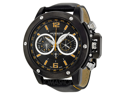 Akribos XXIV Conqueror AK469BK Men's Black Dial Leather Chronograph Watch