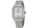 Michele Signature Deco Diamond Silver Guilloche Steel Ladies Watch MWW06T000055