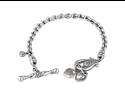 Scott Kay Sterling Silver Toggle Heart 0.4ct Diamond Bracelet B1055SPAD75