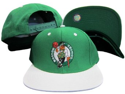 Boston Celtics Green White Two Tone Adjustable Plastic Snap Back Hat / Cap