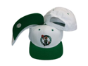 Boston Celtics White/Green Two Tone Snapback  Plastic Snap Back Hat / Cap