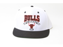 New Adidas NBA Chicago Bulls Script Logo Snapback Hat- White and Black