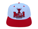 NFL Chicago Bulls White Red Snapback 3D Letters Hat