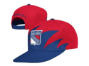 Mitchell & Ness NHL New York Rangers Throwback Shark Tooth Snapback Hat-Red/Navy