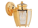 Boston Harbor HV-66961-PB Single Light Wall Mounted Lantern, Polished Brass