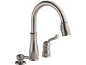 Delta 978-SSSD-DST Leland Stainless Single Handle Pull-Down Kitchen Faucet with