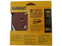 DeWalt DW4311 5-Inch 8-Inch 120-Grit Hook and Loop Random Orbit Sandpaper 25-Pac