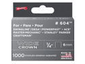 "Arrow Fastener 60430 1/4"" Wide Crown Heavy Duty Staples, 1000/Pack"
