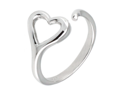 Sterling Silver Heart Adjustable Size Ring