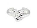 Sterling Silver Infinite Heart Loop Adjustable Size Ring