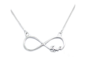 "Sterling Silver Infinity Love Pendant with Adjustable 16"" - 17"" Fine Chain"