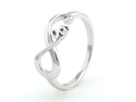 Sterling Silver Lite Infinity Love Ring