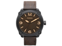 Fossil Unisex JR1339 Brown Calf Skin Analog Quartz Watch with Brown Dial