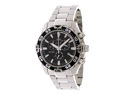 Swiss Precimax Men's Formula-7 Pro SP12057 Silver Stainless-Steel Swiss Chronograph Watch with Black Dial