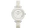 Fossil Women's JR1409 White Plastic Quartz Watch with White Dial