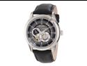 Bulova Men's Mechanical 96A135 Black Calf Skin Automatic Watch with Black Dial