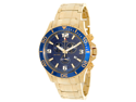 Swiss Precimax Men's Tarsis Pro SP13064 Gold Stainless-Steel Swiss Chronograph Watch with Blue Dial