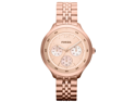 Fossil Women's Editor ES3241 Rose-Gold Stainless-Steel Analog Quartz Watch with Rose-Gold Dial