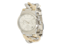 Michael Kors Women's Runway MK4263 Silver Stainless-Steel Analog Quartz Watch with Silver Dial