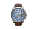 Diesel Men's DZ4281 Brown Leather Analog Quartz Watch with Blue Dial