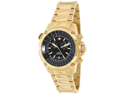 Swiss Precimax Men's Squadron Pro SP13077 Gold Stainless-Steel Swiss Chronograph Watch with Black Dial