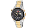 Swiss Precimax Men's Squadron Pro SP13078 Two-Tone Stainless-Steel Swiss Chronograph Watch with Black Dial