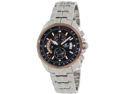 Casio Men's Edifice EFR501D-1AV Silver Stainless-Steel Quartz Watch with Black Dial