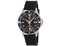 Timex Men's Sport T2P029 Black Silicone Analog Quartz Watch with Black Dial