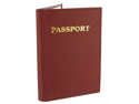 "Leather Cover Passport Holder Travel 5.5"" x 3.75"" Burgundy Wallet"