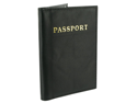 "Leather Cover Passport Holder Travel 5.5"" x 3.75"" Black Wallet"