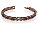 "Copper Clad Magnetic Golf Power Link 0.25"" Wide Bracelet 7.5"" Long with Fold over Clasps"