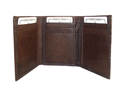 Mens Trifold Leather Credit Card Holder Mens Brown