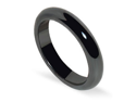 4mm Magnetic Simulated Hematite Band Mens Ring Size 6.5
