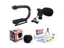 Extreme Shooters Kit Featuring Opteka HD 0.35x Wide Angle Panoramic Macro Fisheye Lens, Opteka X-GRIP Pro Camera Handle, Opteka VM-8 Mini-Shotgun Microphone and More for Canon EOS Digital SLR Cameras
