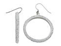 Round White Crystal Hoop Earrings