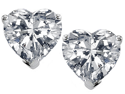 Original Star K(TM) 7mm Heart Shape White Topaz Earrings Studs