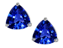 Star K 3.00 Ct. TW. Trillion Cut 7mm Created Sapphire Earring Studs