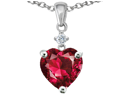 Original Star K(TM) Heart Shape 8mm Created Ruby Pendant