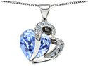 6.45 cttw Original Star K Heart Shape 12mm Simulated Aquamarine Pendant