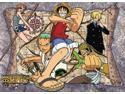 One Piece: Group and Map Wall Scroll GE9928
